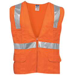 Security & Protection Supply Black Mesh Vest High Visibility Pvc Reflective Tape Zipper Front