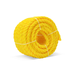 3-Strand Polypropylene Rope 1/4 in. x 100 ft. Yellow-CWC 150010