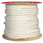 3-Strand Cotton Halter Rope 3/8 in. x 600 ft. White-CWC 211005