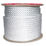 3-Strand Nylon Rope 1-1/2 in. x 600 ft. White-CWC 315202