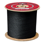 3-Strand Nylon Rope 1/4 in. x 600 ft. Black-CWC 316203
