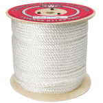 3-Strand Nylon Rope 2-1/2 in. x 600 ft. White-CWC 315235