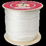 3-Strand Nylon Rope 3/8 in. x 1200 ft. White-CWC 315040