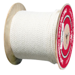 3-Strand Poly Dacron Rope 5/8 in. x 600 ft. White-CWC 325064