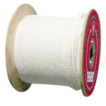 3-Strand Polyester Rope 1/2 in. x 600 ft. White-CWC 335055