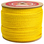 3-Strand Polypropylene Rope 1-1/4 in. x 600 ft. Yellow-CWC 300220