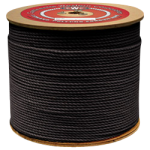 3-Strand Polypropylene Rope 1/4 in. x 1200 ft. Black-CWC 301065