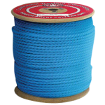 3-Strand Polypropylene Rope 1/4 in. x 600 ft. Blue-CWC 301200