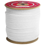 3-Strand Polypropylene Rope 1/4 in. x 600 ft. White-CWC 301146