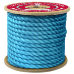 3-Strand Polypropylene Rope 1 in. x 600 ft. Blue-CWC 301230