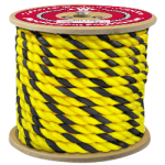 3-Strand Polypropylene Rope 1 in. x 600 ft. Yellow & Black-CWC 301038