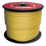 3-Strand Polypropylene Rope 3/16 in. x 600 ft. Yellow-CWC 400005