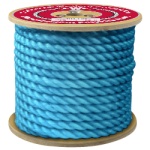 3-Strand Polypropylene Rope 3/4 in. x 600 ft. Blue-CWC 301225
