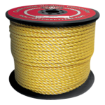3-Strand Polypropylene Rope 7/8 in. x 600 ft. Yellow-CWC 400120