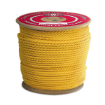 3-Strand Polypropylene Rope 1/4 in. x 600 ft. Yellow-CWC 300035