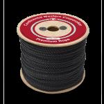 3-Strand Polypropylene Rope 1/4 in. x 600 ft. Black-CWC 301060