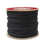 3-Strand Polypropylene Rope 1/4 in. x 1200 ft. Black-CWC 301065