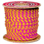 3-Strand Polypropylene Rope 1/4 in. x 600 ft. Magenta-CWC 301166