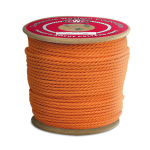 3-Strand Polypropylene Rope 3/8 in. x 600 ft. Orange-CWC 301310