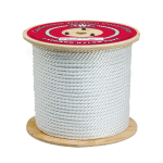 3-Strand Nylon Rope 1/4 in. x 1200 ft. White-CWC 315020
