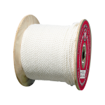 3-Strand Polyester Rope 1/4 in. x 600 ft. White-CWC 335015