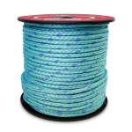 BLUE STEEL™ Rope 12-Strand 1/4 in. x 600 ft. Teal W/Dark Blue Tracer-CWC 353290