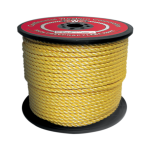 3-Strand Polypropylene Rope 1/4 in. x 1200 ft. Yellow-CWC 400020