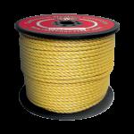 3-Strand Polypropylene Rope 1/4 in. x 1200 ft. Black-CWC 400021