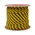 3-Strand Polypropylene Rope 2 in. x 600 ft. Yellow & Black-CWC 400490