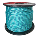 BLUE STEEL™ Rope 3/8 in. x 1200 ft. Teal W/Dark Blue Tracer-CWC 402042