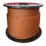 BLUE STEEL™ Rope 5/8 in. x 600 ft. Orange W/Dark Blue Tracer-CWC 402083