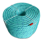 BLUE STEEL™ Rope 2 in. x 600 ft. Teal W/Dark Blue Tracer-CWC 402150