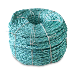 8 Braid BLUE STEEL™ Rope 2 in. x 600 ft. Teal W/Dark Blue Tracer-CWC 402155