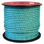 BLUE STEEL™ Rope 1-3/4 in. x 600 ft. Teal W/Dark Blue Tracer-CWC 402148