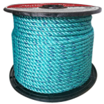 BLUE STEEL™ Rope 1/4 in. x 600 ft. Teal W/Dark Blue Tracer-CWC 402015