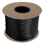 Braided MFP Halter Rope 27/64 in. x 300 ft. Black-CWC 115346