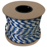 Braided MFP Halter Rope 27/64 in. x 300 ft. Blue & White-CWC 115341