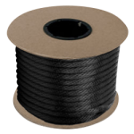 Braided MFP Halter Rope 27/64 in. x 500 ft. Black-CWC 115334