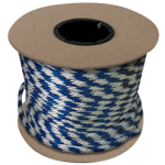 Braided MFP Halter Rope 27/64 in. x 500 ft. Blue & White-CWC 115321