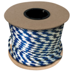 Braided MFP Halter Rope 3/8 in. x 500 ft. Blue & White-CWC 115320