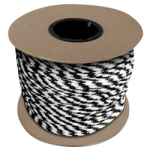 Braided MFP Halter Rope 5/8 in. x 200 ft. Black & White-CWC 115465