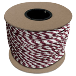 Braided MFP Halter Rope 5/8 in. x 200 ft. Burgundy & White-CWC 115480