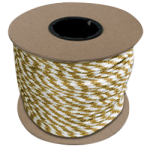Braided MFP Halter Rope 5/8 in. x 200 ft. Gold & White-CWC 115475