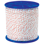 California Truck Rope 1/2 in. x 600 ft. White W/Orange Tracer-CWC 326025