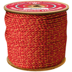 California Truck Rope 1 in. x 600 ft. Red W/Orange Tracer-CWC 305051