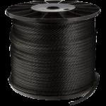 Double Braid Nylon Rope 3/4 in. x 600 ft. Black-CWC 346075