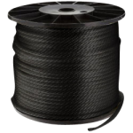 Double Braid Nylon Rope 3/8 in. x 600 ft. Black-CWC 345110