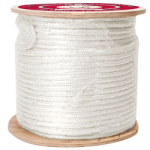 Double Braid Pulling Rope 9/16 in. x 300 ft. White-CWC 347059
