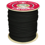 Glazed Sash Cord Size #6 3/16 in. x 1200 ft. Black-CWC 124114