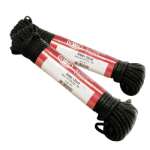 Glazed Sash Cord Size #8 1/4 in. x 100 ft. Black-CWC 124032
